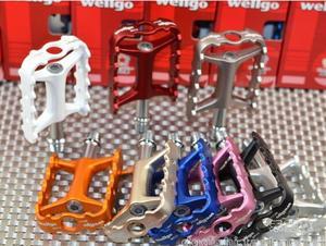 Pedal ultraligero Wellgo M111 para bicicleta de montaña, Pedal de rodamiento Wellgo