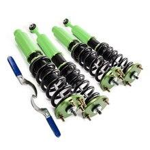 Para Honda Accord 2003-2007 Full redução Kits Coilover Suspensão Verde para 04-08 Acura TSX 03-07 Honda DX EX LX SE Coilovers