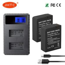 JHTC 2Pcs/set 1600mAh AHDBT-301 GoPro Hero3 Battery + LCD Dual Charger For GoPro Hero 3 Hero 3+ Camera Accessories стоимость