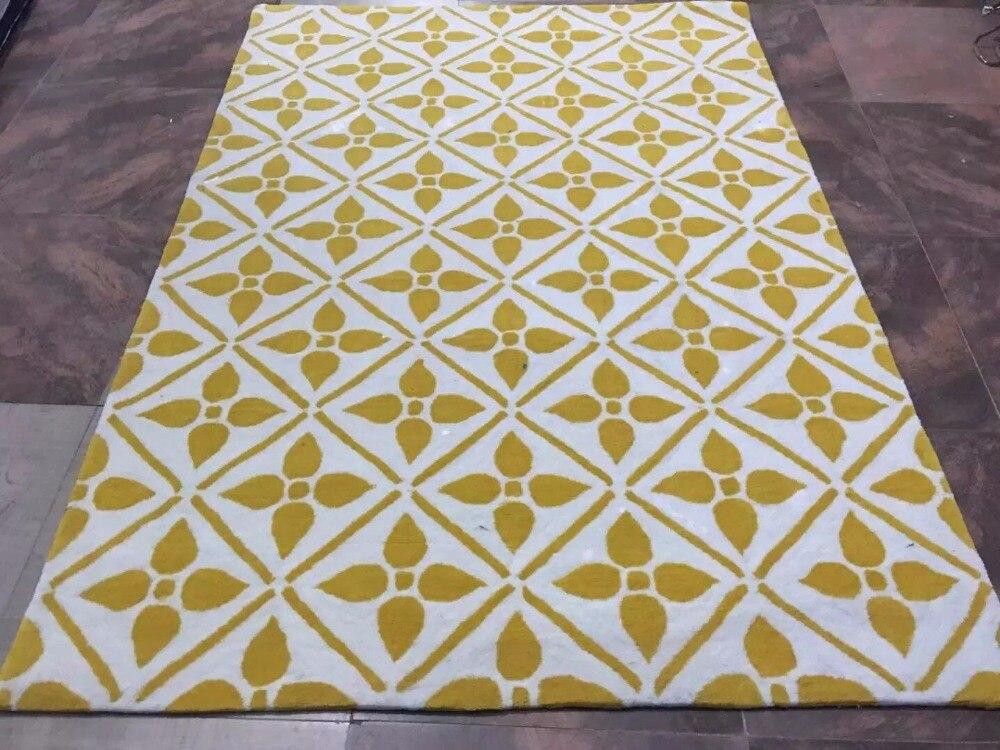 2020 nouveauté tapis pour salon moderne jaune et blanc acrylique tapis tapis pour maison plancher tapis grand