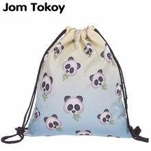 2019 neue mode Frauen rucksack 3D druck panda reise softback frauen mochila kordelzug