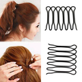 2Pcs Women Fashion Styling Hair Clip Stick Bun Maker Hair Accessories Braid Tool  6XUL