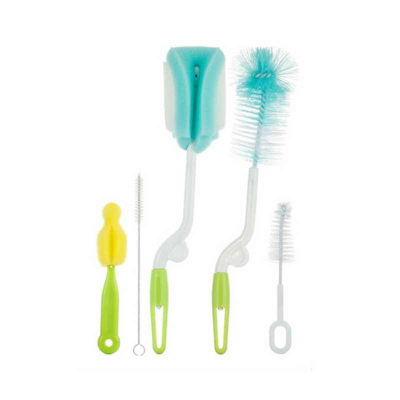 Bottle Sponge Cleaning Brush With Long Handle Nipple Cleaning Brush Utensil Tool