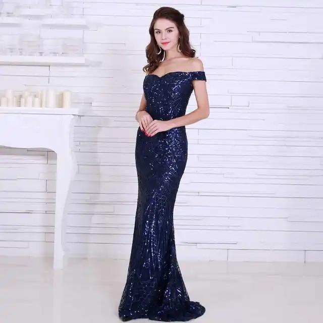 fashion dress sexy women off the shoulder sequined backless slash neck elegant celebrity body con party dresses wholesale