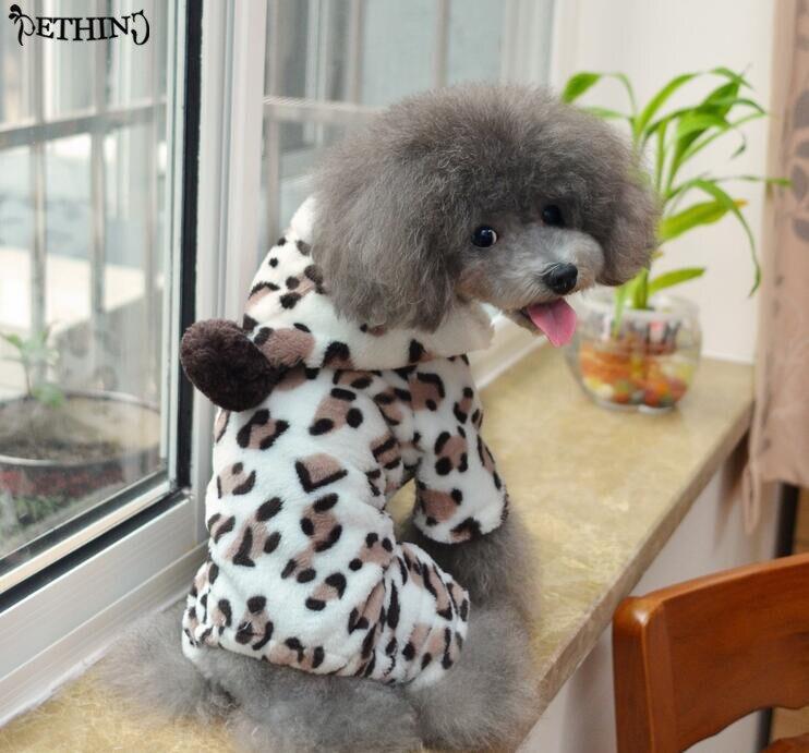 っLindo perro ropa Deer patrón mascota mono perro de cuatro pies ...