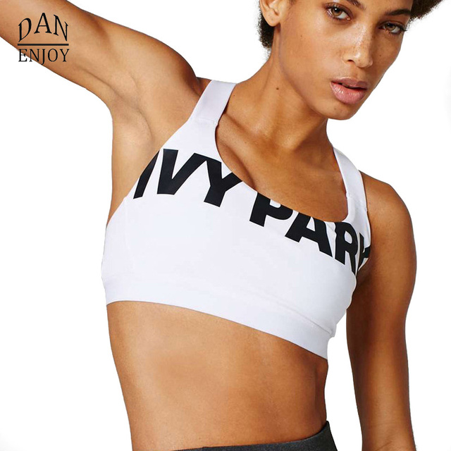 883839696df70 2018 Sports Bra Beyonce IVY PARK Letter Print Sexy Push Up Crop Top Tank  Soutien Gorge
