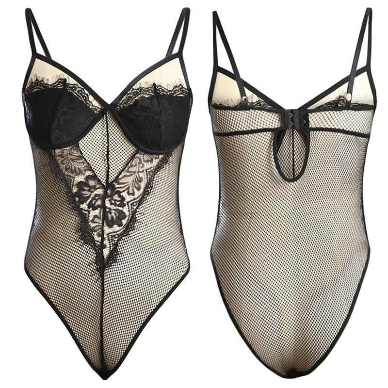 SEBOWEL/черная/белая прозрачная ткань, Кружевное боди для женщин, сексуальный бодик без рукавов, плюшевый сетчатый прозрачный топ, комбинезоны для девочек