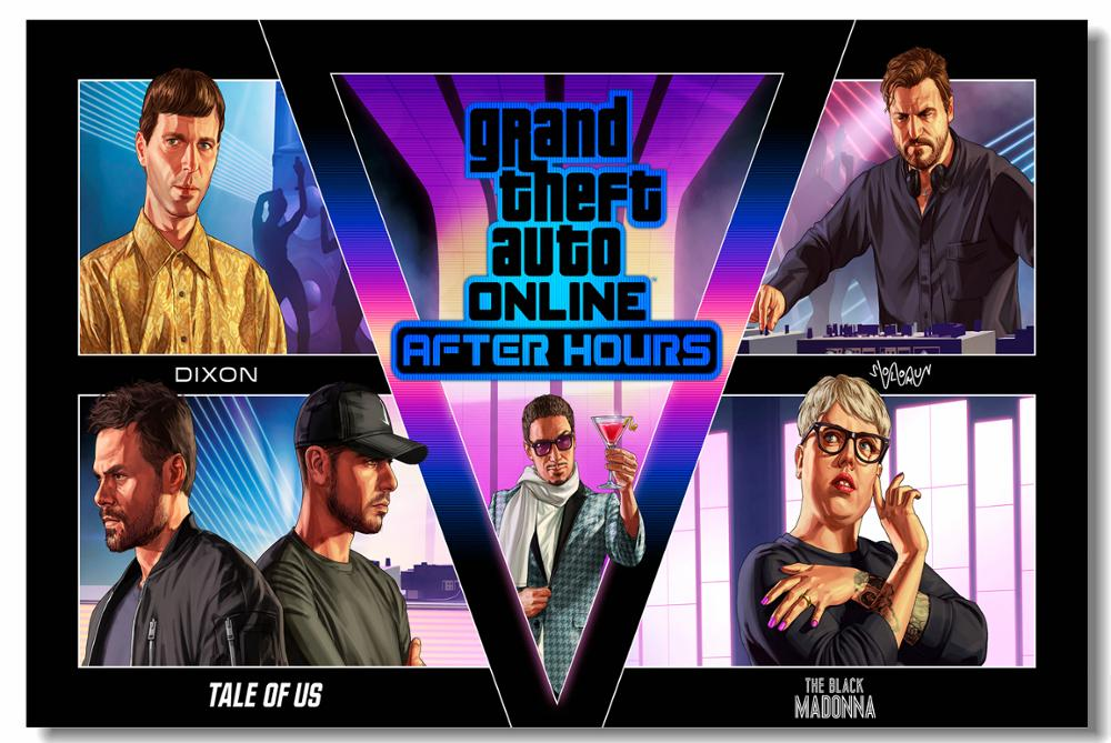 Us 479 20 Offcustom Canvas Art Game Wallpaper Gta 5 After Hours Mural Gaming Poster Grand Theft Auto Wall Stickers Home Decoration 797 In Wall