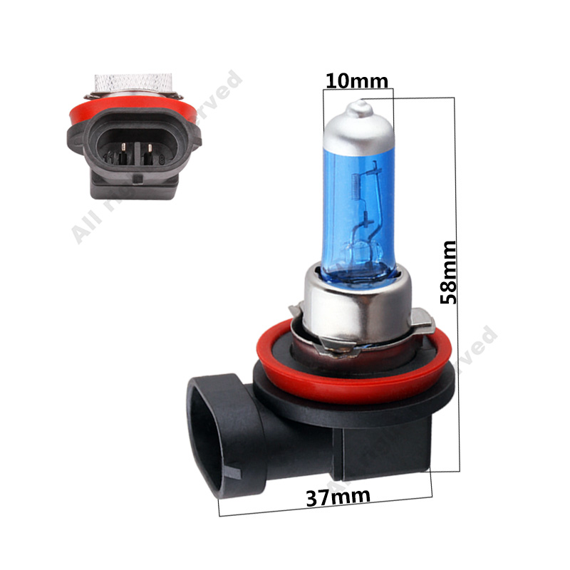 2Pcs H11 100W auto Super White Halogen Bulb Fog Lights High Power Car Headlights Lamp Car Light Source parking 5200K 12V