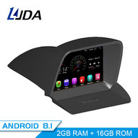 LJDA Android 8.1 Car DVD Player For FORD TOURNEO 2013 2016 GPS Navigation 2 Din Car Radio Multimedia WIFI Stereo IPS Headunit