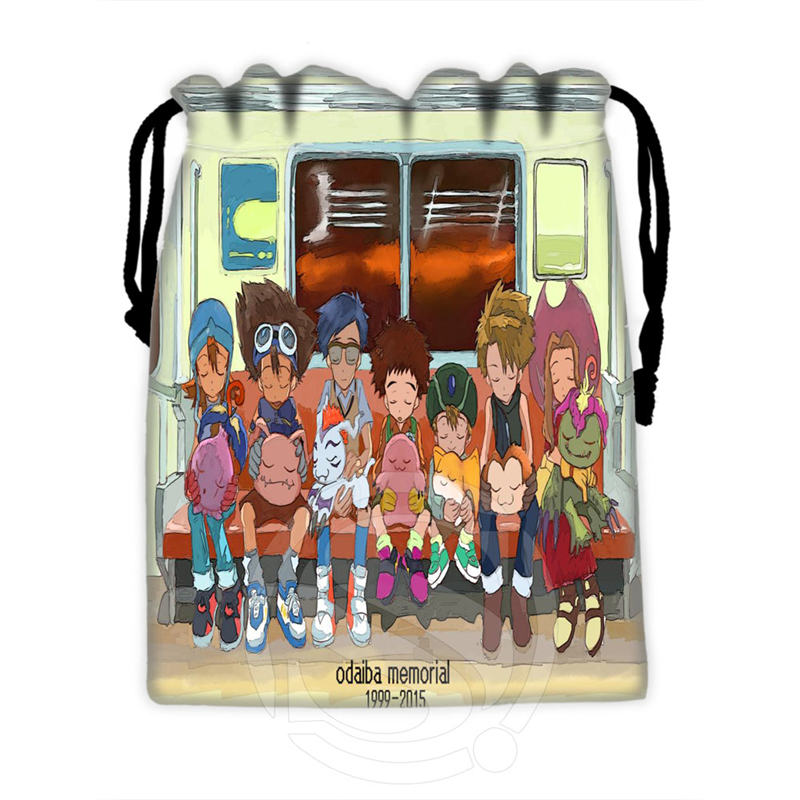 Classic Custom Digimon #8 Drawstring Bags For Mobile Phone Tablet PC Packaging Gift Bags18X22cm SQ00715-@H0290