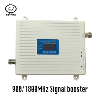 High gain dual band 900 1800 signal repeater for cellphone 2g gsm900 mhz dcs cellular booster repeater gsm 1800 signal amplifier