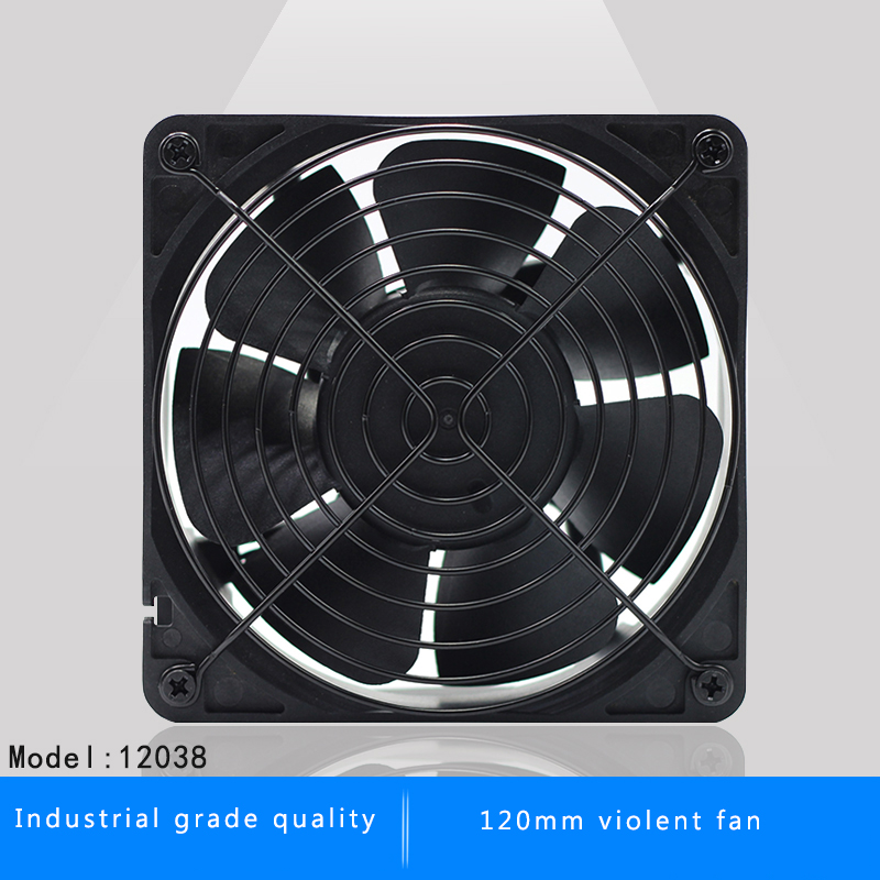<font><b>120mm</b></font> 12038 12CM DC <font><b>12V</b></font> server inverter miner cooling <font><b>fan</b></font> for BTC Miner Bitcoin asic S7 S9 Low Noise <font><b>Powerful</b></font> Server cooler image