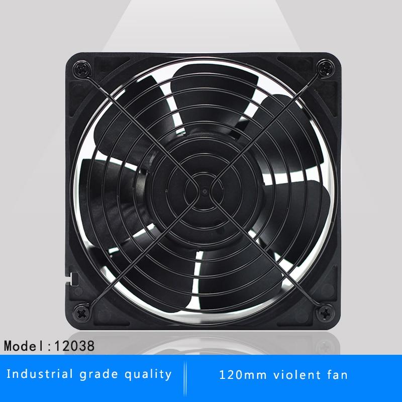 120mm 12038 12 CM DC 12 V serveur onduleur mineur de refroidissement ventilateur pour BTC Mineur Bitcoin asic S7 S9 À Faible Bruit Puissant Serveur refroidisseur