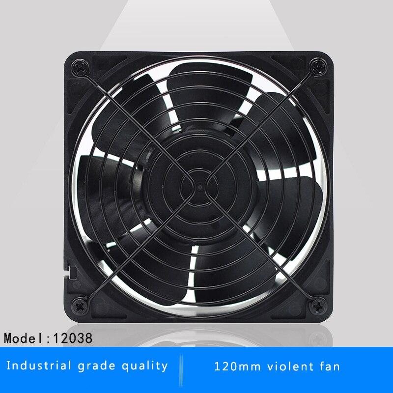 120mm 12038 12 cm DC 12 V inversor servidor minero ventilador para BTC minero Bitcoin asic S7 S9 bajo Ruido potente servidor refrigerador