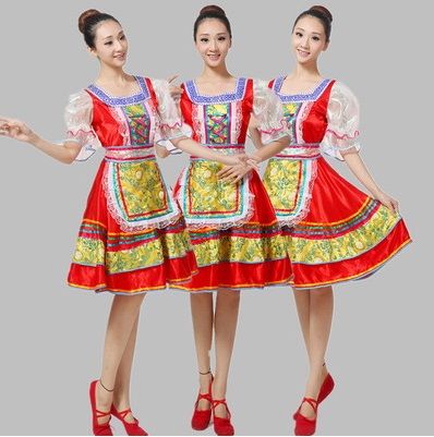 3d8576406f29 Ladies womens High quality Russia Traditional Russian national dance costume  stage performance clothing for women dance dress-in Asia   Pacific Islands  ...