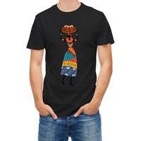 T-shirt Afrikalı Kadın Taşıma Damar Tribal T Gömlek Erkekler Tees Marka Giyim Komik Serin Komik T-Shirt Erkek Yüksek Kalite Tees