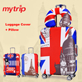 Mytrip engrosse viagem cobertura de bagagem + travesseiro de viagem, Mala de proteção tampa elástica para mala, Acessórios de viagem