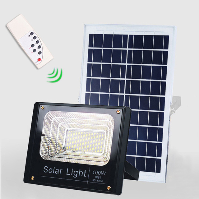 4PCS Solar LED Light Spotlight 10W/25W/40W/60W/100W/120W Light Control Floodlight Tuinverlichting Street Lamp Waterproof IP67