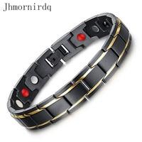 Moda homens pulseira ímã pulseira magnética fechos para pulseiras esportes inoxidável benefícios para a saúde para fecho de jóias jewlery mens