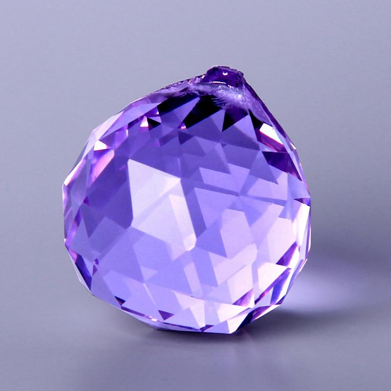 12 colors Crystal Glass Lighting Ball Pendant Garland Chandelier Hanging Indoor Room Wedding Decor