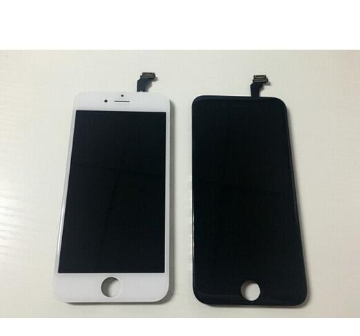 1 pcs grade aaa quanlity top screen display lcd para iphone 6 com substituição digitador assembléia branco preto cor frete grátis