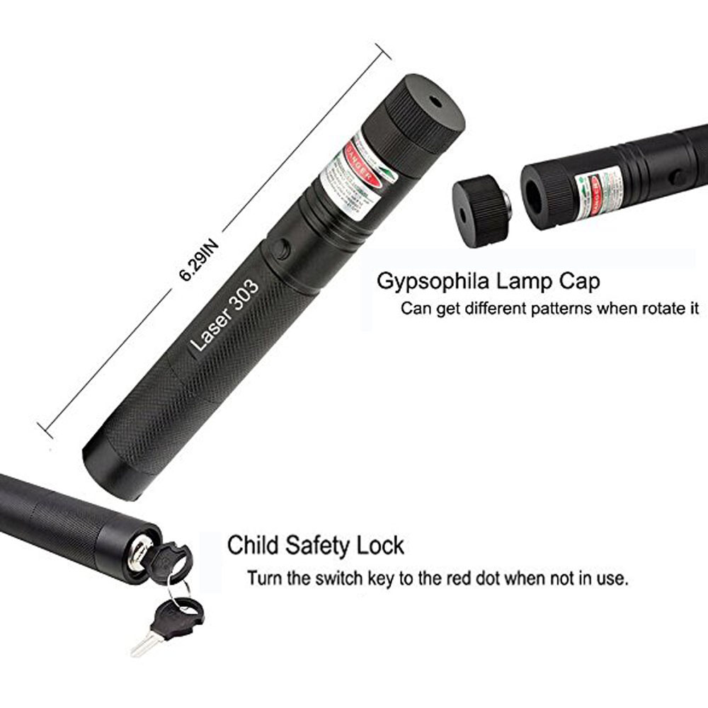 Image 5 - Powerful Green Laser Pointer 5mw Range 1 2 km Military 532nm Laser 303 Pen With Star Cap flashlight Adjustable Focus-in Lasers from Sports & Entertainment