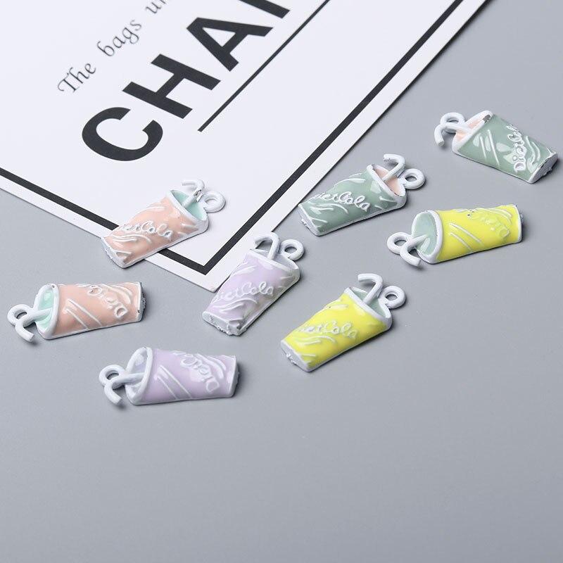 10pcs/lot 25*13mm Summer Orange Lemon Drink Enamel Charms Beverages Fashion Jewelry Accessories fit Bracelet Necklace DIY Craft