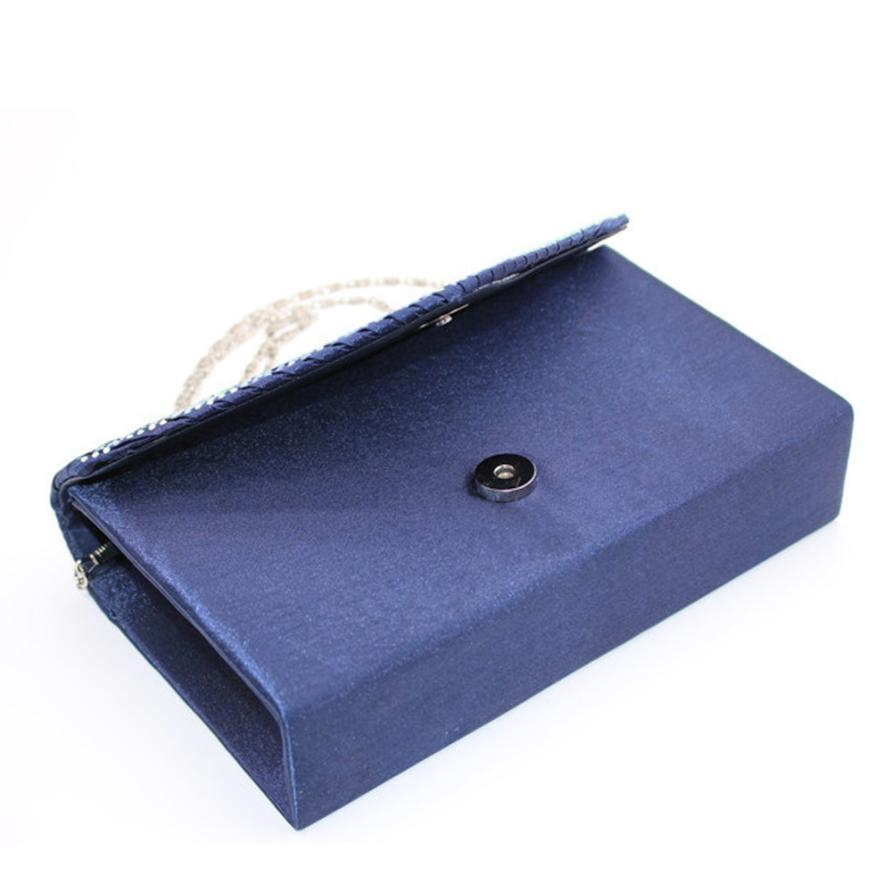 Ladies Large Evening Satin Bridal Diamante Luxury Clutch Bag Party Prom Envelope Vintage Handbag Women 2018 Fashion Bags 10jul31 6