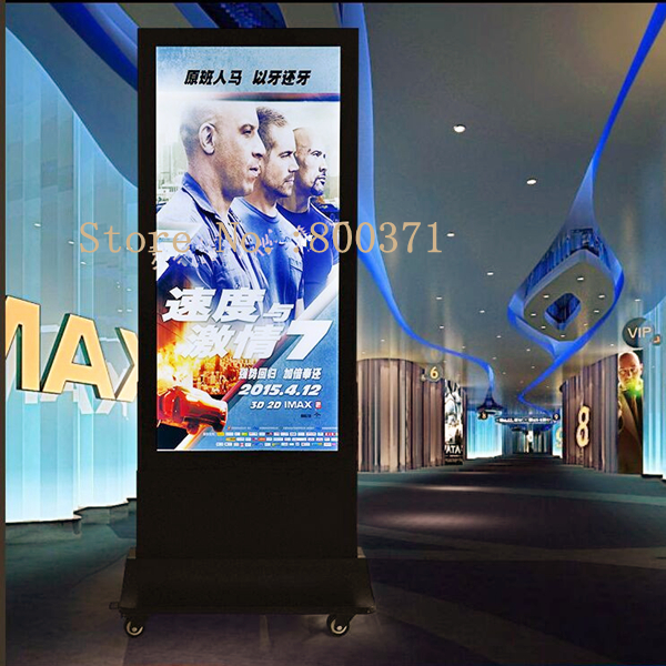 walking led edge lit movie poster frame home theater double sided display lighted up lightbox magnetic aluminum frame light box
