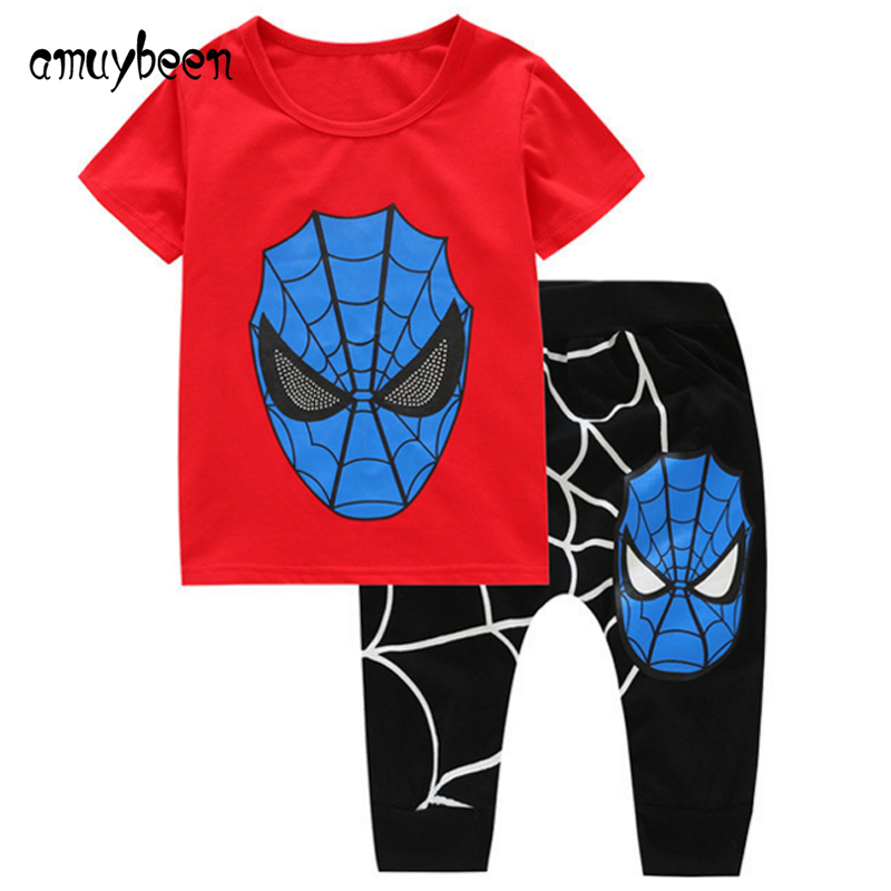 e10885b19 Boy Clothing Sets Spiderman Baby Boy Summer Clothes Sports Suit for ...