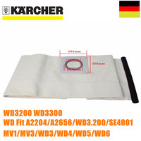 1 PCS For KARCHER VACUUM CLEANER Cloth DUST Filter BAGS WD3200 WD3300 WD Fit A2204 A2656