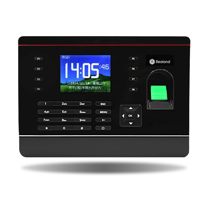 2.8 inch TFT screen fingerprint biometric time attendance Realand A-C061 TCP/IP fingerprint lock with free English software usb password biometric fingerprint time attendance machine fingerprint lock system with free software a6 model