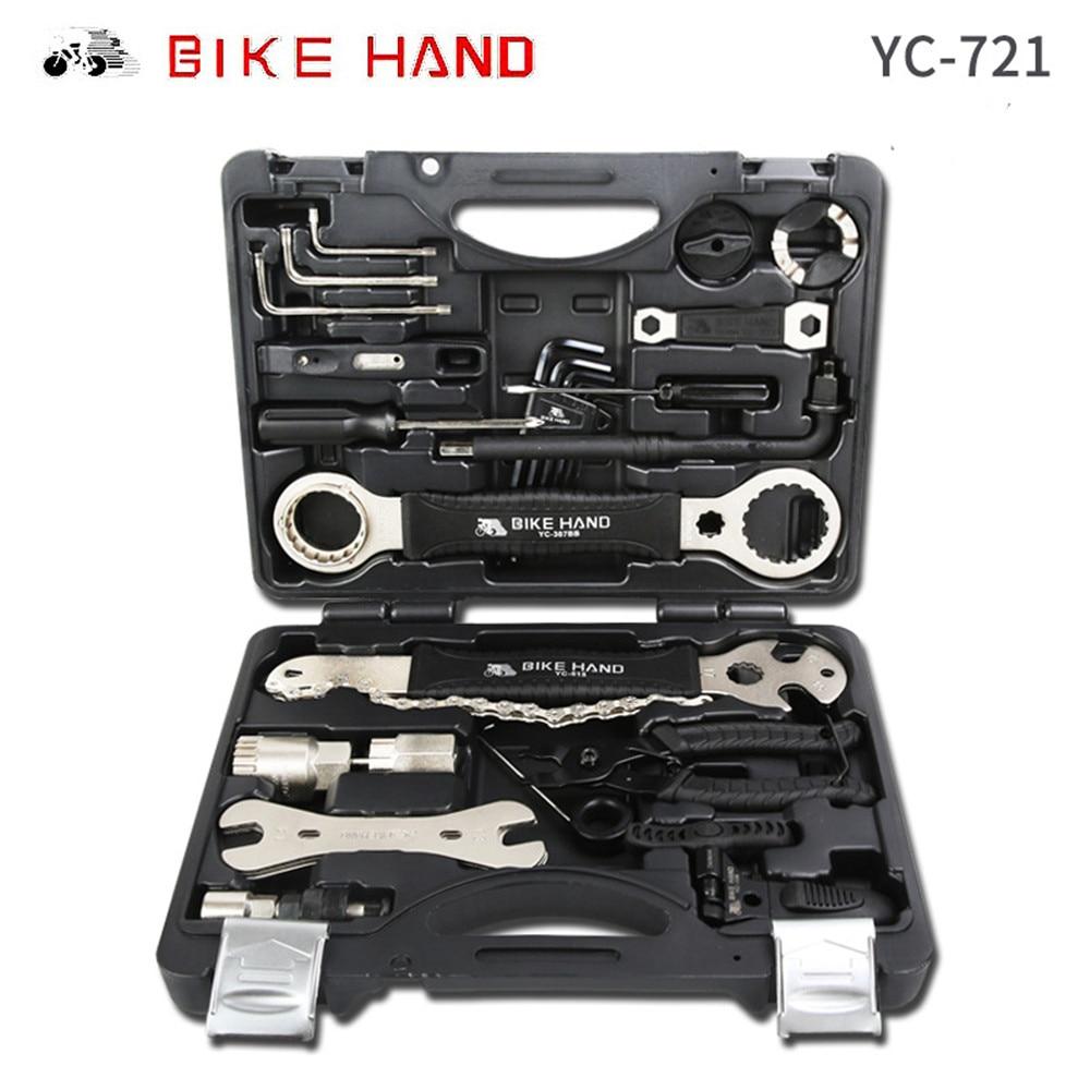 合金 18 で 1 自転車修理ツールキットボックス mtb タイヤチェーンの修復ツールは、レンチキット六角ドライバーバイクツール -