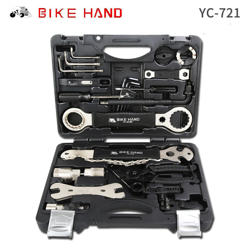 Alloy 18 In 1 Bicycle Repair Tools Kit Box Set Multi MTB Tire Chain Repair Tools Spoke Wrench Kit Hex Screwdriver Bike Tools