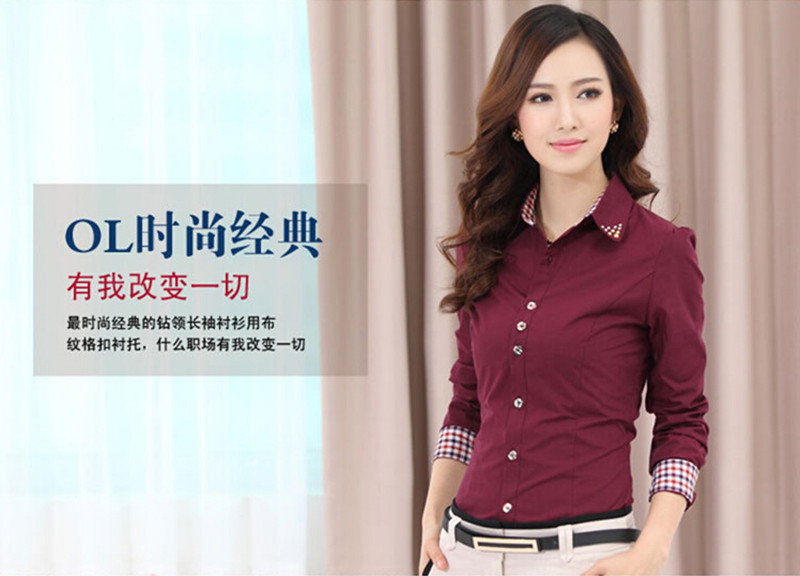44b00f95 2015 OL Women Office Shirts Ladies' Long Sleeve Shirts Women Work Shirts S- 4XLUSD 15.29/piece