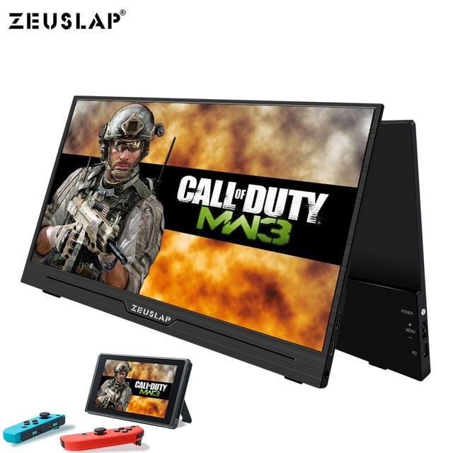ZEUSLAP العشاء خفيفة 1080P + HDR المحمولة رصد 1920*1080P IPS شاشة ل PS3 PS4 XBOX سيارة عرض الكمبيوتر للتبديل