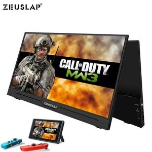 Image 2 - ZEUSLAP 15.6 インチポータブルモニター 1920x1080 HD Ips ディスプレイコンピュータ Led モニタ用の磁気ケース付き PS4/ xbox/電話/Macbook