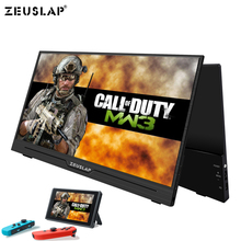 ZEUSLAP Supper Ultralight 1080P+HDR Portable Monitor 1920*1080P IPS Screen For PS3 PS4 XBOX Car Display PC For Switch