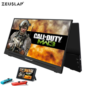 Image 1 - ZEUSLAP Supper Ultralight 1080P+HDR Portable Monitor 1920*1080P IPS Screen For PS3 PS4 XBOX Car Display PC For Switch