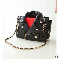 2015 New Design Jacket Bags Women Handbag Pu Leather Clothing Messenger Shoulder Bag Day Clutch Evening