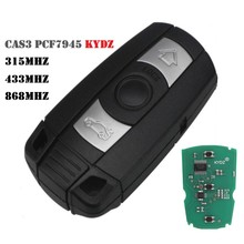 3 Button Remote Car Key for BMW 1/3/5/7 Series X5 X6 Z4 CAS3 KR55WK49123 PCF7945Chip 868MHz 315MHZ 433mhz