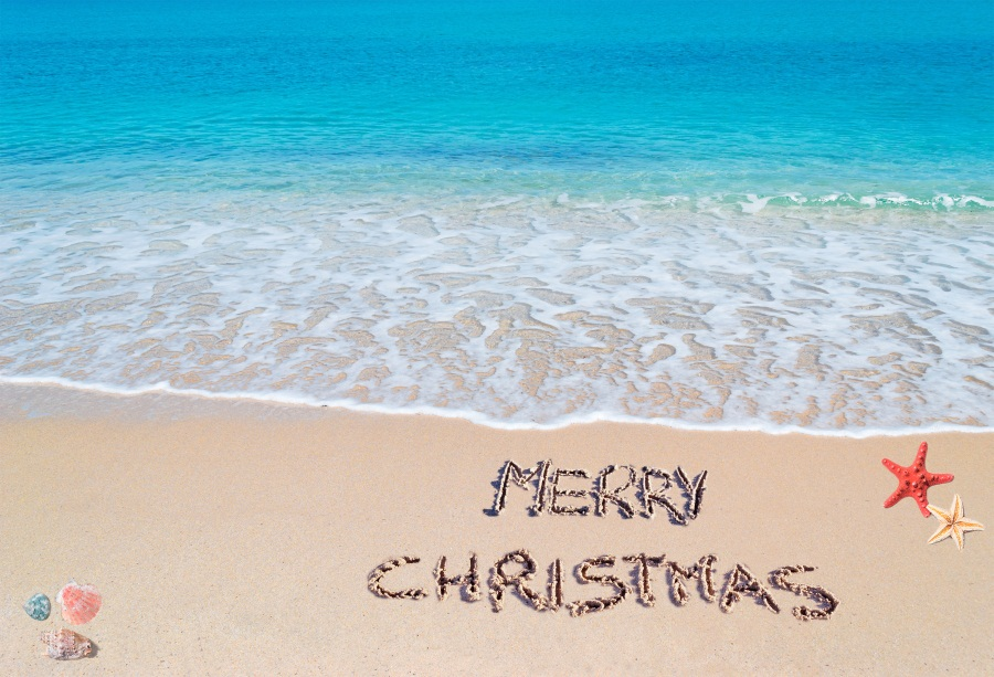nbk00956 - Merry Christmas Beach Images
