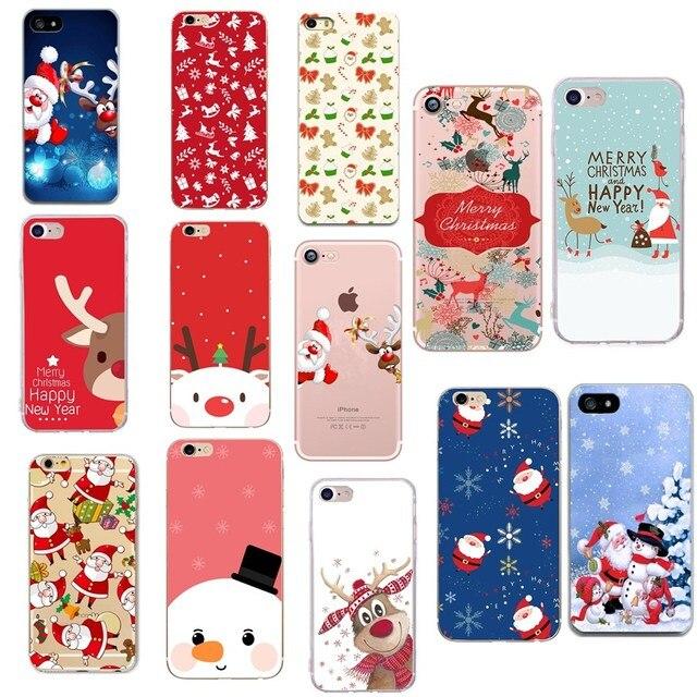 5c0c2cdb232123 Pour iphone 8 plus étui de luxe pour femmes En Silicone Souple De Noël  Fudna Pour