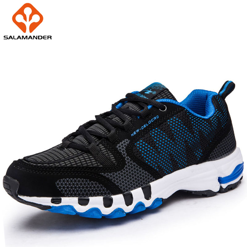 SALAMANDER 2018 Men Running Shoes Large Size Outdoor Athletic Man Woman Brand Run Sport Shoes For Male Breathable Mens Sneakers