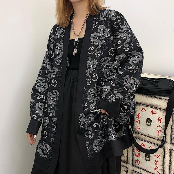 Summer Fashion Coat Japanese Kimono Cardigan Kimono Woman Man Loose Thin Outer Garment