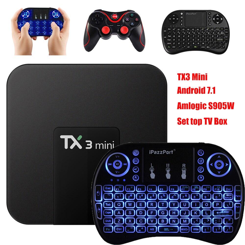 TX3 Mini Android 7.1 TV Box S905W Amlogic S905W Smart TV Box 1GB + 16GB/2GB + 16GB Support 4K HD Media Player Set top Box