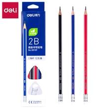 DELI Graphite Pencils for School Cute Pencil 2B HB 1 Box(12PCS) Cartoon Drawing Pencil Set Pencils 58108 58109 недорого