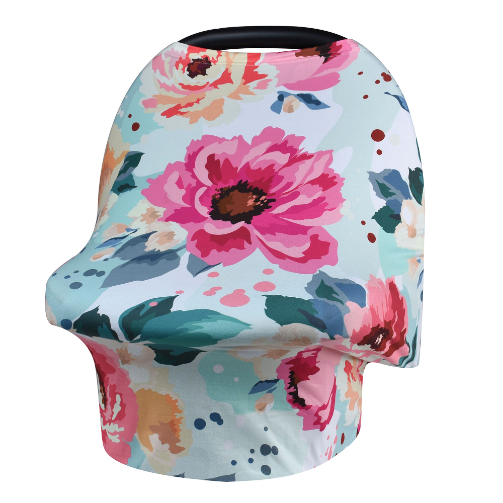 New Baby Nursing Cover Printed ,Shopping Cart, High Chair, Car Seat Canopy,Multi Use Breastfeeding Cover Up Stroller Crseat jessica simpson new multi butterfly sleeve printed cover up tunic l $68 dbfl