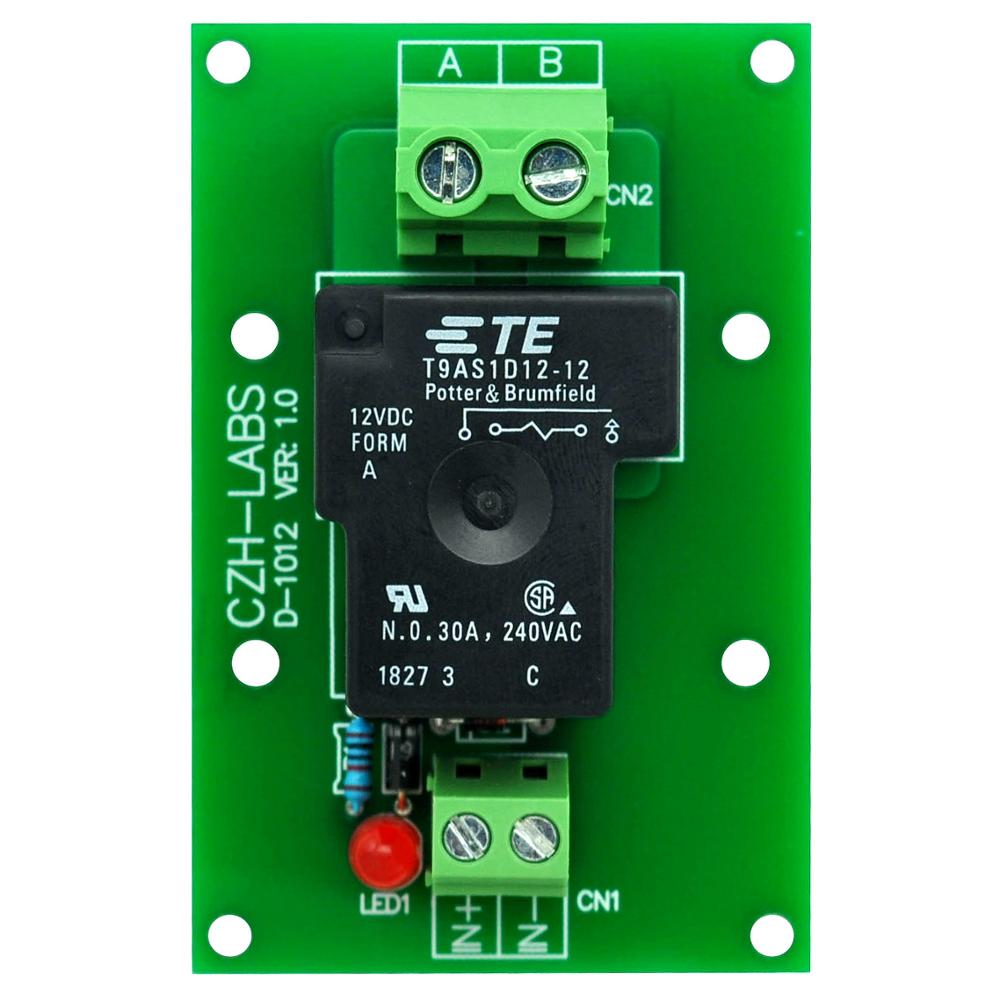 CZH-Labs 12V Passive SPST-NO 30Amp Power Relay Module Board.